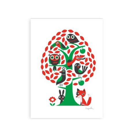 Affisch/tryck,Träd